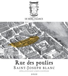 Saint Joseph blanc, 'Rue des Poulies' 2020, Marsanne Roussanne