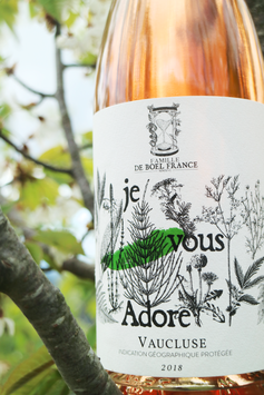 Vaucluse rosé, 'je vous Adore' 2018, caladoc grenache carignan - EN RUPTURE