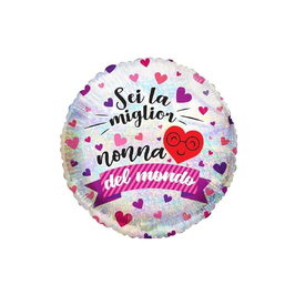 """Palloncino 18"""" mylar """"Sei la miglior Nonna/Nonno del Mondo"""""""