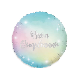 "Palloncino 18"" mylar Buon Compleanno ""Soft Rainbow"""
