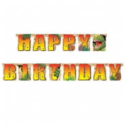 Festoni happy birthday dinosauri