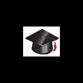 """Tovagliolo Laurea Sagomato Tocco """"Graduation"""" 16pz"""