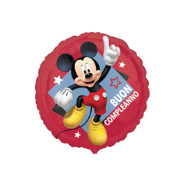 "Palloncino 18"" mylar Mickey Buon Compleanno"