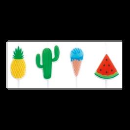 "Candelina Picks Summer ""Anguria, Ananas, Cactus, Gelato"" 4pz"
