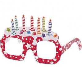 OCCHIALI DI CARTA torta compleanno