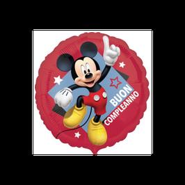 "Palloncino 18"" mylar Mickey Buon Compleanno"
