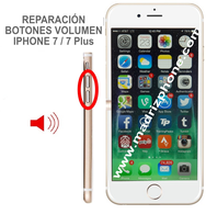 Cambiar / Reparar botones Volumen  iPHONE 7 / 7 Plus Original