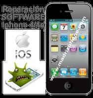 Reparar / Solucionar Problemas de Software ios  APPLE IPHONE 4/4S