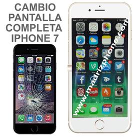 Cambiar Pantalla Completa Compatible iPHONE 7 Blanco/Negro