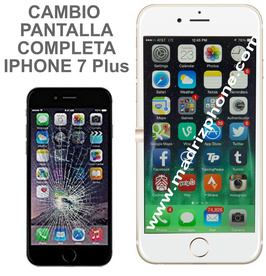 Cambiar / Reparar Pantalla Completa Compatible iPHONE 7 Plus Blanco/Negro