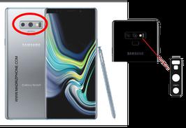 Cambiar / Reparar Cristal camara trasera Samsung Galaxy NOTE 9 SM-N960F