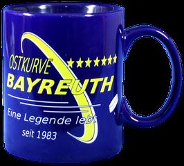 Kaffeetasse, C-Henkel, blau
