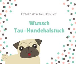 Wunsch Tau-Hundehalstuch