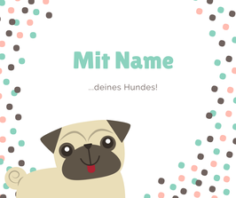Name auf dünner Hundedecke