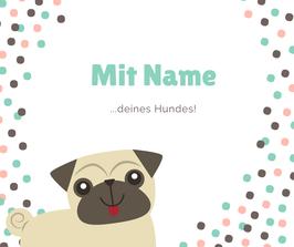 Name auf Tau-Hundehalstuch / Schriftzug