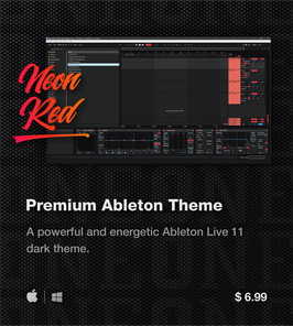 LVMG ONE Ableton Live 11 NeonRed Theme