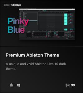 LVMG ONE Ableton Live 10 PinkyBlue Theme
