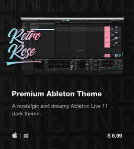LVMG ONE Ableton Live 11 RetroRose Theme