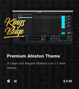 LVMG ONE Ableton Live 11 KingsBeige Theme