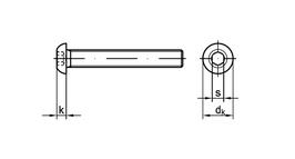 Schrauben Kit für Taschenhalter, Linsenschraube A2 ISO 7380 I-6Kt verschiedene Größen