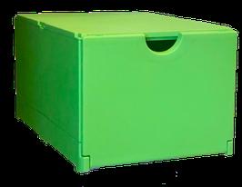 Schuhbox grün   Front blau im 10er Set