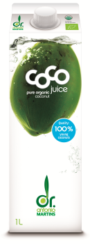 Dr. Martins' Coco Drink pur, Bio, Elopack 1 l