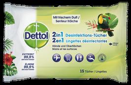 Dettol 2in1 Desinfektions-Tücher 15 Stück - pcode 7647006