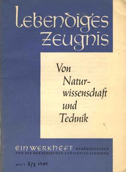VON NATURWISSENSCHAFT UND TECHNIK - 49 Heft 2 - 4. Jahrgang