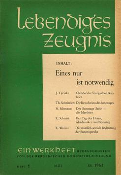 EINES NUR IST NOTWENDIG - 1953 Heft 2 - 8. Jahrgang