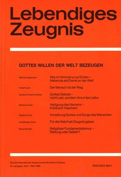 GOTTES WILLEN DER WELT BEZEUGEN - 1990 Heft 1 - 45. Jahrgang