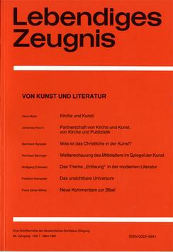VON KUNST UND LITERATUR - 1981 Heft 1 - 36. Jahrgang