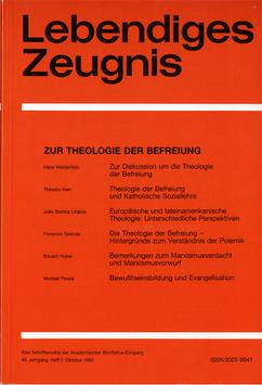 ZUR THEOLOGIE DER BEFREIUNG  - 1985 Heft 3 - 40. Jahrgang