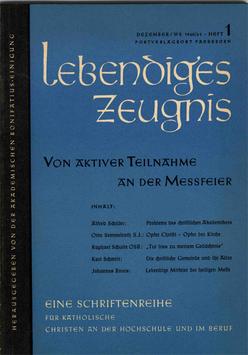 VON AKTIVER TEILNAHME AN DER MESSFEIER - 1960 Heft 3 - 15. Jahrgang