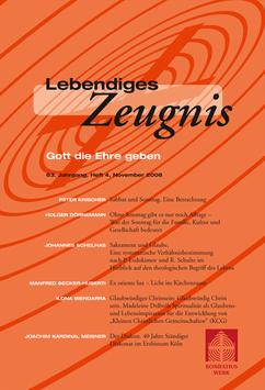 GOTT DIE EHRE GEBEN - 2008 Heft 4 - 63. Jahrgang