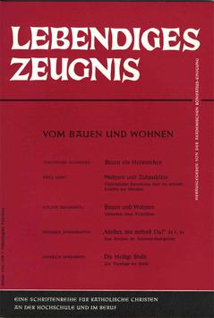 VOM BAUEN UND WOHNEN - 1962 Heft 1 - 17. Jahrgang