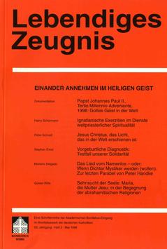 EINANDER ANNEHMEN IM HEILIGEN GEIST - 1998 Heft 2 - 53. Jahrgang