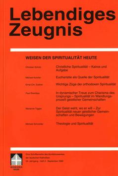 WEISEN DER SPIRITUALITÄT HEUTE  - 1999 Heft 3 - 54. Jahrgang
