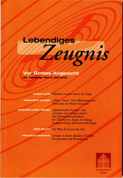 VOR GOTTES ANGESICHT - 2003 Heft 2 - 58. Jahrgang