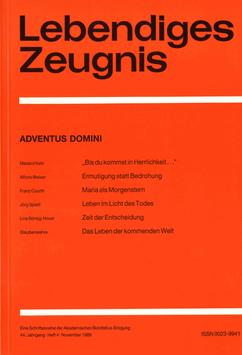 ADVENTUS DOMINI  - 1989 Heft 4 - 44. Jahrgang