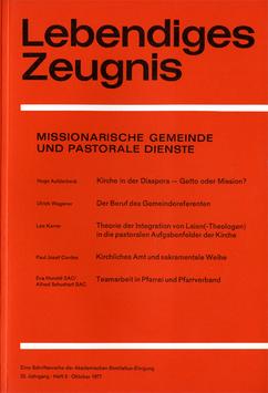 MISSIONARISCHE GEMEINDE UND PASTORALE DIENSTE - 1977 Heft 3 - 32. Jahrgang