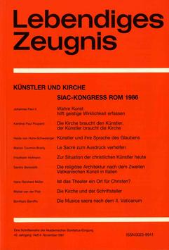 KÜNSTLER UND KIRCHE. SIAC-KONGRESS ROM 1986  - 1987 Heft 4 - 42. Jahrgang