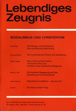SOZIALISMUS UND CHRISTENTUM  - 1978 Heft 1 - 33. Jahrgang