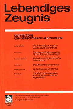 GOTTES GÜTE UND GERECHTIGKEIT ALS PROBLEM- 1994 Heft 2 - 49. Jahrgang