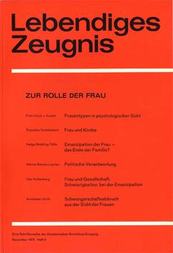 ZUR ROLLE DER FRAU - 1973 Heft 4 - 28. Jahrgang