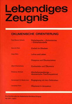 ÖKUMENISCHE ORIENTIERUNG - 1974 Heft 2 - 29. Jahrgang