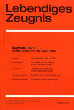ÖKUMENE HEUTE GEMEINSAME VERANTWORTUNG - 1993 Heft 2 - 48. Jahrgang