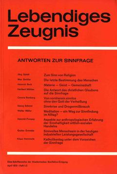 ANTWORTEN ZUR SINNFRAGE - 1973 Heft 1/2 - 28. Jahrgang