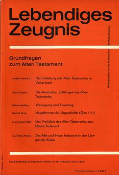 GRUNDFRAGEN ZUM ALTEN TESTAMENT - 1964 Heft 1 - 19. Jahrgang