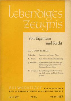 VOM EIGENTUM UND RECHT - 1955 Heft 1 - 10. Jahrgang