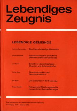 LEBENDIGE GEMEINDE  - 1975 Heft 1 - 30. Jahrgang